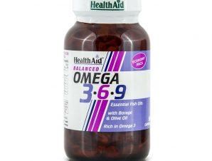 Health Aid Omega 3 – 6 – 9 (1155Mg) Απαραίτητα Λιπαρά Οξέα Capsules – 90 caps