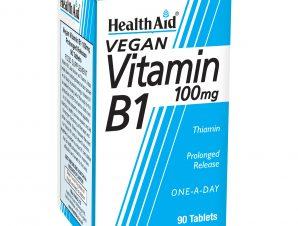 Health Aid Vitamin B1 Thiamin One a Day Βιταμίνη B1 (Θειαμίνη) Η βιταμίνη του Μυαλού 100mg 90tabs