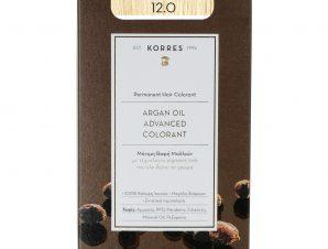 Korres Argan Oil Advanced Colorant Μόνιμη Βαφή Μαλλιών με Τεχνολογία Pigment-Lock που Κλειδώνει το Χρώμα 50ml – 12.0 Ξανθό Special Blonde