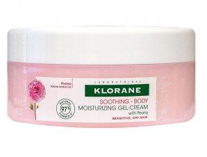 Klorane Soothing Body Moisturizing Gel-Cream With Peony Ενυδατική Θρεπτική Φροντίδα για την Ξηρή Ευαίσθητη Επιδερμίδα 200ml