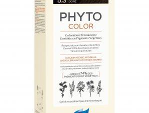 Phyto PhytoColor Coloration Permanente η No1 Μόνιμη Βαφή Μαλλιών Χωρίς Χρωστικές Ουσίες & Αμμωνία – 5.3 Καστανό Ανοιχτό Χρυσό