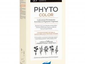 Phyto PhytoColor Coloration Permanente η No1 Μόνιμη Βαφή Μαλλιών Χωρίς Χρωστικές Ουσίες & Αμμωνία – 5.7 Καστανό Ανοιχτό Μαρόν
