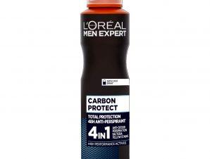 L'oreal Paris Men Expert Carbon Protect Spray Ανδρικό Αποσμητικό με 48ωρη Ολική Προστασία Ενάντια στον Ιδρώτα 150ml