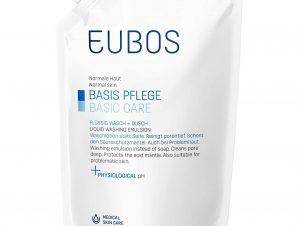 Eubos Liquid Blue Υγρό καθαρισμού, για τον καθημερινό καθαρισμό και την περιποίηση προσώπου και σώματος – 400ml refill