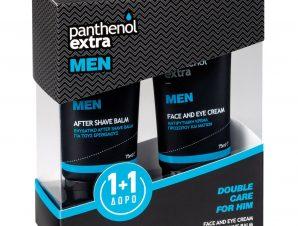 Medisei Πακέτο Προσφοράς Panthenol Extra Men Face & Eye Cream Αντιρυτιδική Προσώπου & Ματιών 75ml & Δώρο After Shave Balm 75ml