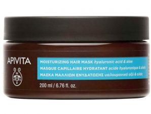 Apivita Moisturizing Hair Mask Μάσκα Μαλλιών Ενυδάτωσης με Αλόη & Υαλουρονικό Οξύ 200ml