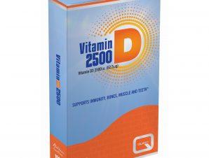 Quest Vitamin D 2500iu (62.5μg) Συμπλήρωμα Διατροφής με Βιταμίνη D για Υποστήριξη του Ανοσοποιητικού 120tabs