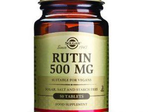 Solgar Rutin 500mg Συμπλήρωμα Διατροφής για τη Καλή Λειτουργία του Κυκλοφοριακού Συστήματος 50tablets
