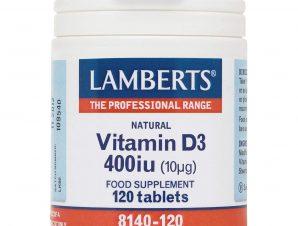 Lamberts Vitamin D Συμπλήρωμα Διατροφής Βιταμίνης D για τη Διατήρηση Ενός Υγιούς Ανοσοποιητικού Συστήματος 400iu 120tabs
