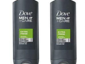 Dove Men Αφρόλουτρο Extra Fresh 2 x 400ml Πακέτο 1+1