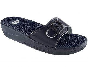 Scholl Shoes New Massage Navy Blue Γυναικεία Ανατομικά Παπούτσια Χαρίζουν Σωστή Στάση & Φυσικό Χωρίς Πόνο Βάδισμα 1 Ζευγάρι – 36