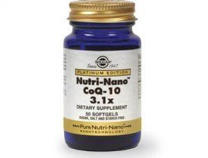 Solgar Nutri-Nano CoQ-10 3.1x30mg 50softgels