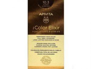 Apivita My Color Elixir Μόνιμη Βαφή Μαλλιών / No 10.3 Κατάξανθο Μελί