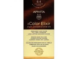 Apivita My Color Elixir Μόνιμη Βαφή Μαλλιών / No 8.4 Ξανθό Ανοιχτό Χάλκινο