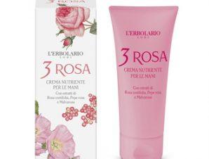 L'Erbolario 3 Rosa Nourishing Hand Cream – 75ml Με Αρωματικές Νότες από: Εκατοντάφυλλα Τριαντάφυλλα, Άνθη Αλθαίας, Ροζ Πιπέρι