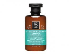 Apivita Oily Roots & Dry Ends Shampoo 250ml – Σαμπουάν Εξισορρόπησης για Λιπαρές Ρίζες και Ξηρές Ακρες με Τσουκνίδα & Πρόπολη.