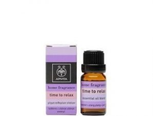Apivita Home Fragrance, Time to Relax με Λεβάντα,Υλάνγκ Υλάνγκ & Γιασεμί 10ml