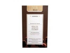 Korres N:10.0 (Ξανθό Πλατίνας). Νέα Μόνιμη Βαφή Μαλλιών με Έλαιο Argan.
