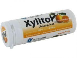 Xylitol Οδοντότσιχλα οδοντιατρικής φροντίδας με 100% ξυλιτόλη και γεύση Φρέσκα Φρούτα 30 τμχ. 32,4 gr