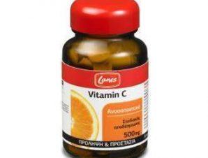 Lanes Vitamin C, 500mg. 30tabs,