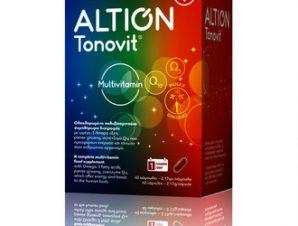 Altion Tonovit / Ολοκληρωμένο Πολυβιταμινούχο Συμπλήρωμα διατροφής με Omega-3, λιπαρά οξέα, panax ginseng & συνένζυμο Q10 / 40caps