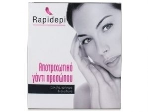 Rapidepi Αποτριχωτικό Γάντι Προσώπου. Συσκευασία γάντι + 2 ανταλλακτικά