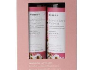 Korres 1+1 Intimate Area Cleanser με Χαμομήλι & Lactic Acid. 2x250ml