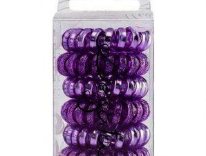 Dessata Hair Ties Purple Metal – Λαστιχάκια Μαλλιών 6τμχ