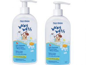 Pharmagoods Πακέτο Προσφοράς – 2 Frezyderm baby bath Βρεφικό Αφρόλουτρο με Αντλία, 2x 300ml
