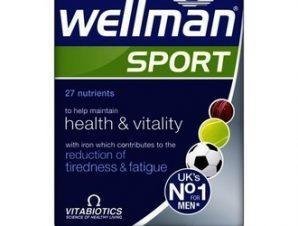 Vitabiotics Wellman Sport, Συμπλήρωμα Διατροφής για Άνδρες που Αθλούνται για Ενέργεια & Τόνωση 30Tabs