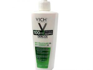 Vichy Dercos Anti-Dandruff DS Shampoo 100ml ΔΩΡΟ Αντιπυτιριδικό Σαμπουάν για Ξηρά Μαλλιά, 390ml