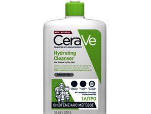 CeraVe Hydrating Cleanser Κρέμα Καθαρισμού Προσώπου & Σώματος / Για Κανονικό έως Ξηρό Δέρμα / 1LT