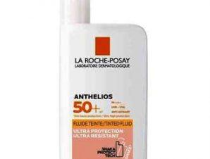 La Roche Posay Anthelios 50+ Shaka Fluid Teinte 50ml / Αντηλιακή κρέμα προσώπου με Χρώμα &ultra προστασία, ultra λεπτόρρευστη υφή, ultra ανθεκτική, αόρατη.