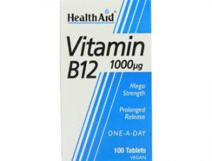 Health Aid Vitamin B12 1000μg,100 tabl.,Κοβαλαμίνη 1000μg