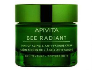 Apivita Bee Radiant Κρέμα με Παιώνια και Πρόπολη για σημάδια γήρανσης και ξεκούραστη όψη- Πλούσια Υφή 50ml