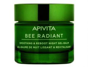 Apivita Bee Radiant Gel-Balm Νύχτας με Παιώνια και Πρόπολη για Λείανση και Αναζωογόνηση 50ml