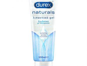 Durex Naturals Ενυδατικό Λιπαντικό Gel με 100% Φυσικά Συστατικά & Υαλουρονικό Οξύ – 100ml