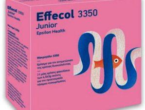 Effecol 3350 Junior / Κατάλληλο για την αντιμετώπιση της δυσκοιλιότητας για παιδιά άνω των 2 ετών και με βάρος άνω των 10kg / 24 φακελίσκοι x 6.56 gr