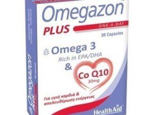 Health Aid Omegazon PLUS (Ω3 & CoQ10) 30caps