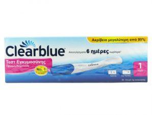Clear Blue Τεστ Εγκυμοσύνης Πρώιμης Ανίχνευσης (6 μέρες πριν) 1τεστ