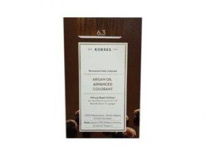 Korres N:6.3 (Ξανθό Σκούρο Χρυσό/Μελί). Νέα Μόνιμη Βαφή Μαλλιών με Έλαιο Argan.
