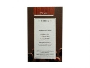 Korres N:77.44 (Ξανθό Έντονο Χάλκινο). Νέα Μόνιμη Βαφή Μαλλιών με Έλαιο Argan