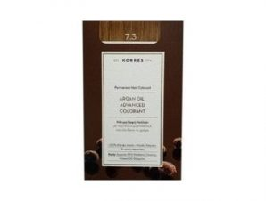 Korres N:7.3 (Ξανθό Χρυσό/Μελί). Νέα Μόνιμη Βαφή Μαλλιών με Έλαιο Argan.