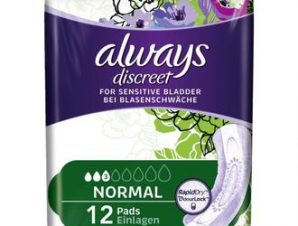 Always Discreet Normal Pads ,Σερβιέτες Ακράτειας 12 τμχ.