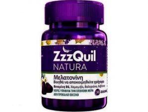 ZzzQuil Natura – Συμπλήρωμα Διατροφής με Μελατονίνη – 30 ζελεδάκια