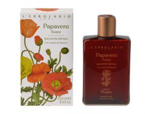 L'Erbolario Papavero Soave Shower Gel 250ml – Αφρόλουτρο με Αρωματικές Νότες από: Πέταλα παπαρούνας Davala delle Indie Γιασεμί του νερού Prunella