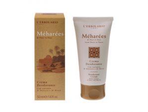 L'Erbolario Meharees -Deodorant Cream 50ml – Κρέμα Αποσμητική με Αρωματικές Νότες από: Κέδρος Λιβάνου Πορτοκάλι Κανέλα Βανίλια Σάνταλο