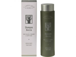 L'erbolario Uomo-Shampoo Doccia – Αντρικό Σαμπουάν/Αφρόλουτρο – 250ml με Αρωματικές Νότες από: Baobab, Κέδρος, Πράσινος καφές
