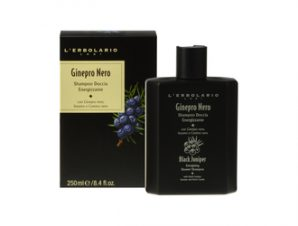 L'Erbolario Ginepro Nero Energising Shower -Shampoo – 250ml με Αρωματικές Νότες από: Καρποί Κέδρου, Γλυκό Πορτοκάλι, Ξύλο Κέδρου, Μπέντζαμιν Σουμάτρας