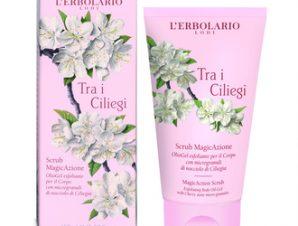 L'Erbolario Tra i Ciliegi Scrub MAgicAzione 150ml.- Ελαιώδες απολεπιστικό gel για το σώμα Με κόκκους από κουκούτσι Κερασιάς